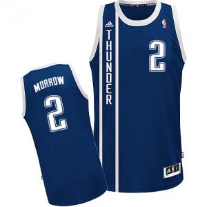 Oklahoma City Thunder #2 Adidas Alternate Bleu marin Swingman Maillot d'équipe de NBA vente en ligne - Anthony Morrow pour Homme