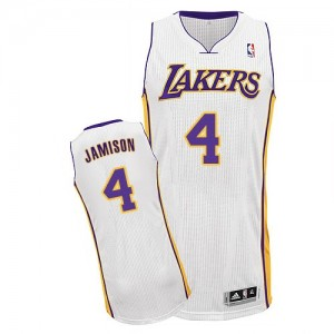 Maillot NBA Authentic Byron Scott #4 Los Angeles Lakers Alternate Blanc - Homme