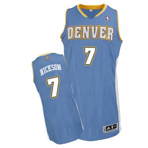 Maillot Authentic Denver Nuggets NBA Road Bleu clair - #7 JJ Hickson - Homme