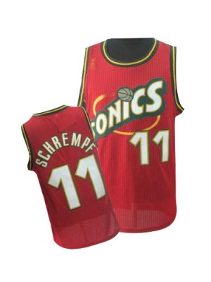 Oklahoma City Thunder #11 Adidas Throwback SuperSonics Rouge Authentic Maillot d'équipe de NBA Peu co?teux - Detlef Schrempf pour Homme