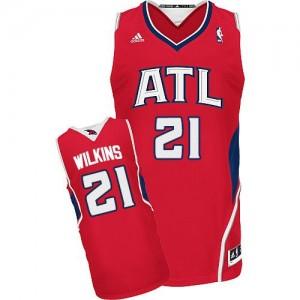 Maillot NBA Rouge Dominique Wilkins #21 Atlanta Hawks Alternate Swingman Homme Adidas