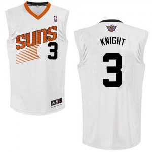 Phoenix Suns Brandon Knight #3 Home Authentic Maillot d'équipe de NBA - Blanc pour Homme