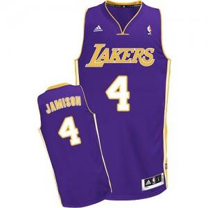 Los Angeles Lakers #4 Adidas Road Violet Swingman Maillot d'équipe de NBA vente en ligne - Byron Scott pour Homme