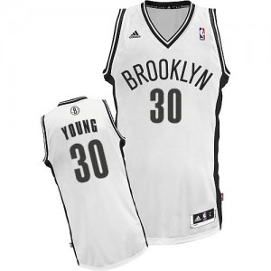 Maillot Adidas Blanc Home Swingman Brooklyn Nets - Thaddeus Young #30 - Enfants