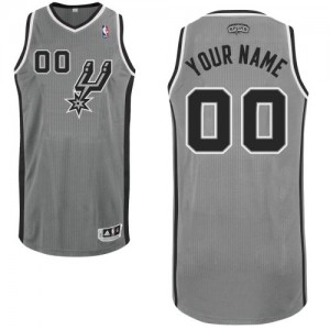 Maillot San Antonio Spurs NBA Alternate Gris argenté - Personnalisé Authentic - Homme