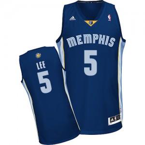 Memphis Grizzlies #5 Adidas Road Bleu marin Swingman Maillot d'équipe de NBA la vente - Courtney Lee pour Homme