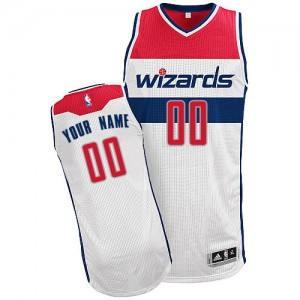 Maillot NBA Blanc Authentic Personnalisé Washington Wizards Home Enfants Adidas