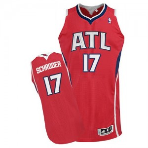 Maillot NBA Authentic Dennis Schroder #17 Atlanta Hawks Alternate Rouge - Homme