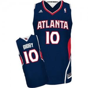 Maillot NBA Bleu marin Mike Bibby #10 Atlanta Hawks Road Swingman Homme Adidas