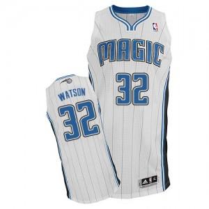 Orlando Magic #32 Adidas Home Blanc Authentic Maillot d'équipe de NBA Soldes discount - C.J. Watson pour Homme