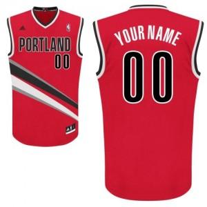 Portland Trail Blazers Personnalisé Adidas Alternate Rouge Maillot d'équipe de NBA pas cher - Swingman pour Homme
