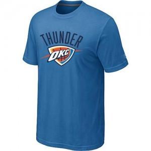 T-shirt principal de logo Oklahoma City Thunder NBA Big & Tall Bleu clair - Homme