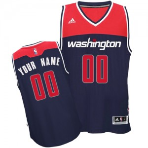 Maillot NBA Bleu marin Authentic Personnalisé Washington Wizards Alternate Enfants Adidas