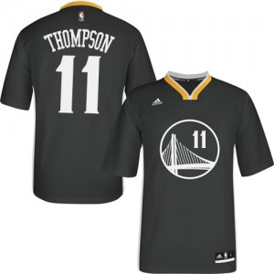 Maillot Adidas Noir Alternate Authentic Golden State Warriors - Klay Thompson #11 - Femme