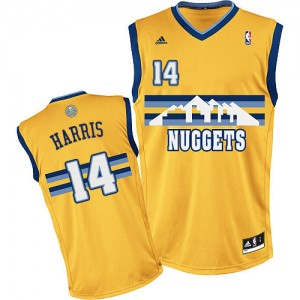 Maillot NBA Denver Nuggets #14 Gary Harris Or Adidas Swingman Alternate - Homme
