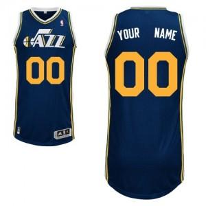 Maillot NBA Utah Jazz Personnalisé Authentic Bleu marin Adidas Road - Enfants