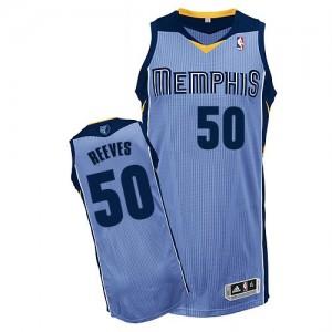 Memphis Grizzlies Bryant Reeves #50 Alternate Authentic Maillot d'équipe de NBA - Bleu clair pour Homme