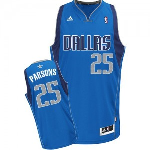 Dallas Mavericks #25 Adidas Road Bleu royal Swingman Maillot d'équipe de NBA Braderie - Chandler Parsons pour Homme
