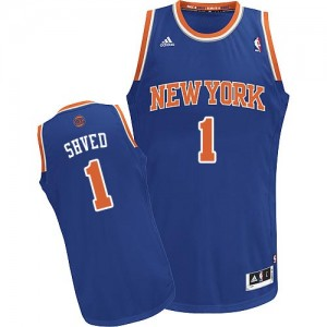 New York Knicks #1 Adidas Road Bleu royal Swingman Maillot d'équipe de NBA Prix d'usine - Alexey Shved pour Homme