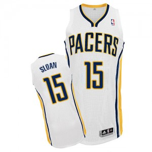 Maillot Adidas Blanc Home Authentic Indiana Pacers - Donald Sloan #15 - Homme