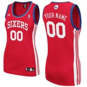Maillot NBA Swingman Personnalisé Philadelphia 76ers Road Rouge - Femme