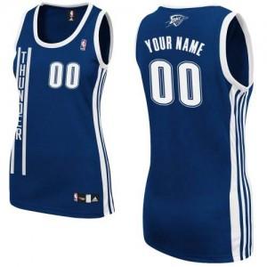 Oklahoma City Thunder Authentic Personnalisé Alternate Maillot d'équipe de NBA - Bleu marin pour Femme