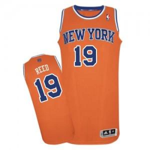 Maillot NBA Orange Willis Reed #19 New York Knicks Alternate Authentic Homme Adidas