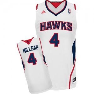 Maillot Adidas Blanc Home Swingman Atlanta Hawks - Paul Millsap #4 - Homme