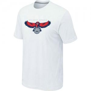 T-shirt principal de logo Atlanta Hawks NBA Big & Tall Blanc - Homme