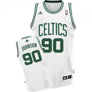 Maillot Swingman Boston Celtics NBA Home Blanc - #90 Amir Johnson - Homme
