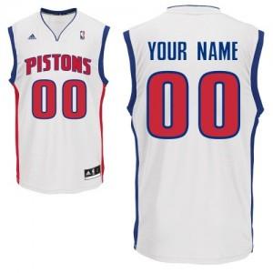 Maillot NBA Swingman Personnalisé Detroit Pistons Home Blanc - Enfants