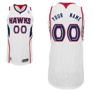 Maillot Adidas Blanc Home Atlanta Hawks - Authentic Personnalisé - Homme