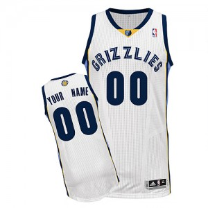 Maillot NBA Authentic Personnalisé Memphis Grizzlies Home Blanc - Enfants