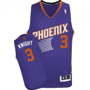 Phoenix Suns #3 Adidas Road Violet Swingman Maillot d'équipe de NBA boutique en ligne - Brandon Knight pour Homme