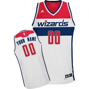 Maillot NBA Washington Wizards Personnalisé Swingman Blanc Adidas Home - Femme
