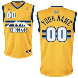 Denver Nuggets Swingman Personnalisé Alternate Maillot d'équipe de NBA - Or pour Homme