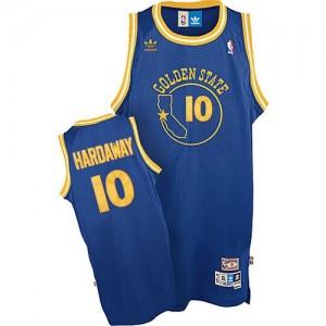 Maillot NBA Authentic Tim Hardaway #10 Golden State Warriors Throwback Bleu royal - Homme