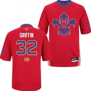 Los Angeles Clippers Blake Griffin #32 2014 All Star Authentic Maillot d'équipe de NBA - Rouge pour Homme