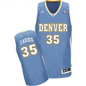 Maillot Adidas Bleu clair Road Swingman Denver Nuggets - Kenneth Faried #35 - Homme