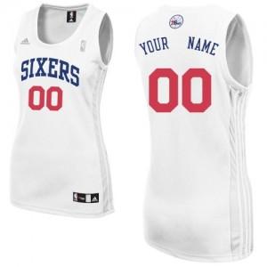 Maillot NBA Swingman Personnalisé Philadelphia 76ers Home Blanc - Femme