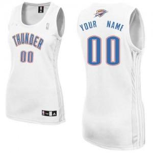 Maillot NBA Blanc Authentic Personnalisé Oklahoma City Thunder Home Femme Adidas