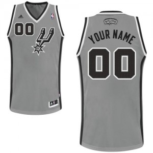 Maillot NBA San Antonio Spurs Personnalisé Swingman Gris argenté Adidas Alternate - Femme