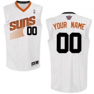 Maillot Phoenix Suns NBA Home Blanc - Personnalisé Authentic - Enfants