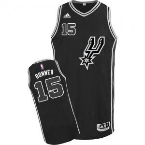 Maillot Authentic San Antonio Spurs NBA New Road Noir - #15 Matt Bonner - Homme