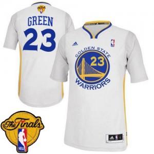 Maillot NBA Golden State Warriors #23 Draymond Green Blanc Adidas Swingman Alternate 2015 The Finals Patch - Homme