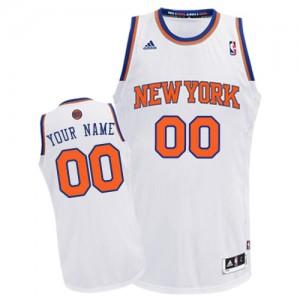 Maillot NBA New York Knicks Personnalisé Swingman Blanc Adidas Home - Enfants