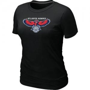 T-shirt principal de logo Atlanta Hawks NBA Big & Tall Noir - Femme