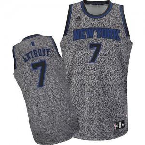 New York Knicks Carmelo Anthony #7 Static Fashion Swingman Maillot d'équipe de NBA - Gris pour Homme