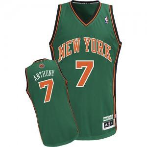 New York Knicks #7 Adidas Vert Authentic Maillot d'équipe de NBA Vente pas cher - Carmelo Anthony pour Homme