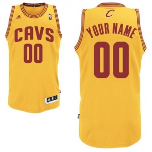 Maillot Adidas Or Alternate Cleveland Cavaliers - Swingman Personnalisé - Homme